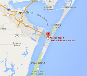Map view of Anchor Resort